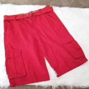 Akademiks Red casual Cargo Shorts SZ 36